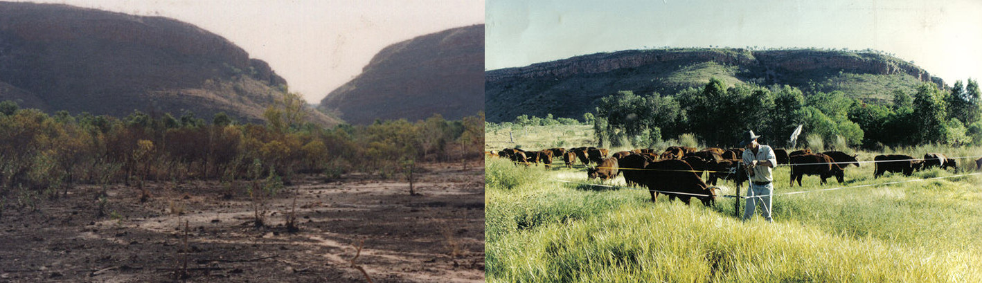 Australia before and after. Courtesy of the Savory Institute